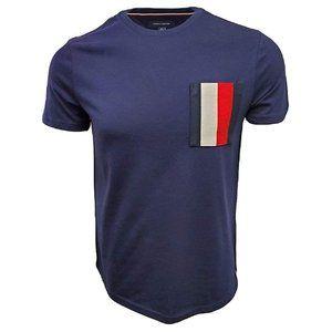 Tommy Hilfiger Men's Flag Pocket T-Shirt Blue M